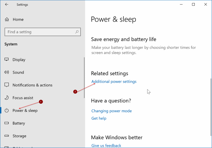 change laptop lid open action in Windows 10 pic1