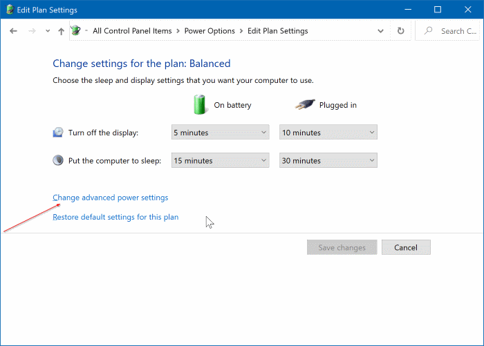 change laptop lid open action in Windows 10 pic3