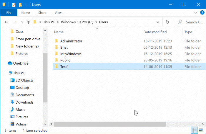 rename user account folder in Windows 10 File Explorer pic7