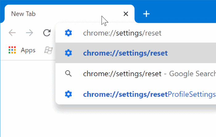 reset google chrome to default settings in Windows 10 pic1
