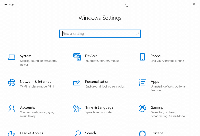 reset the settings app in Windows 10
