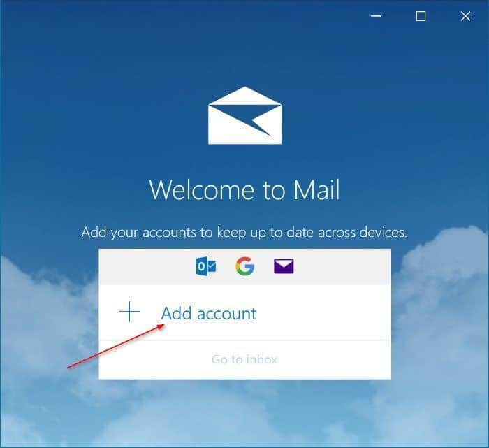 set up and add Gmail to Windows 10 mail