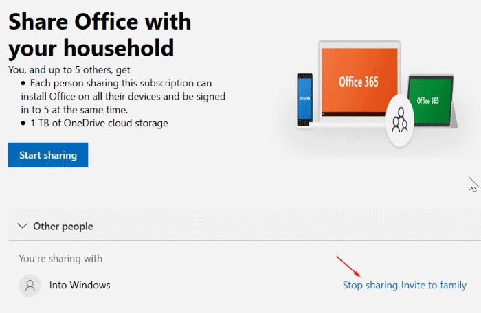 share office 365 home subscription with others pic11