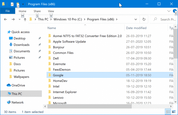 check if installed program in 64-bit or 32-bit in Windows 10 pic2