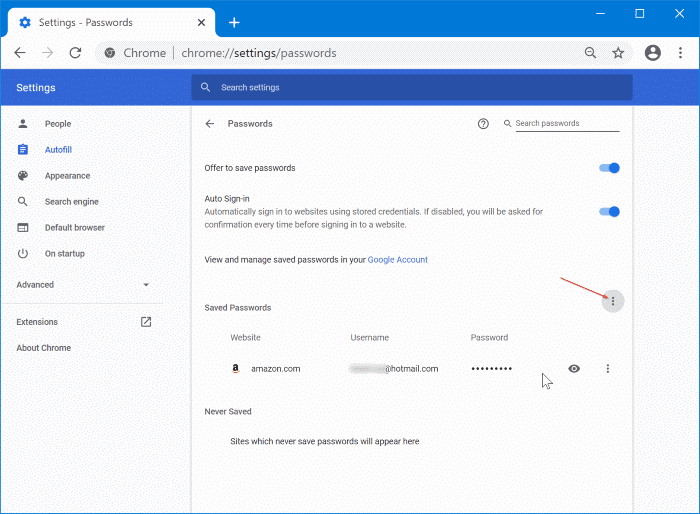 import passwords into Chrome from CSV file pic2