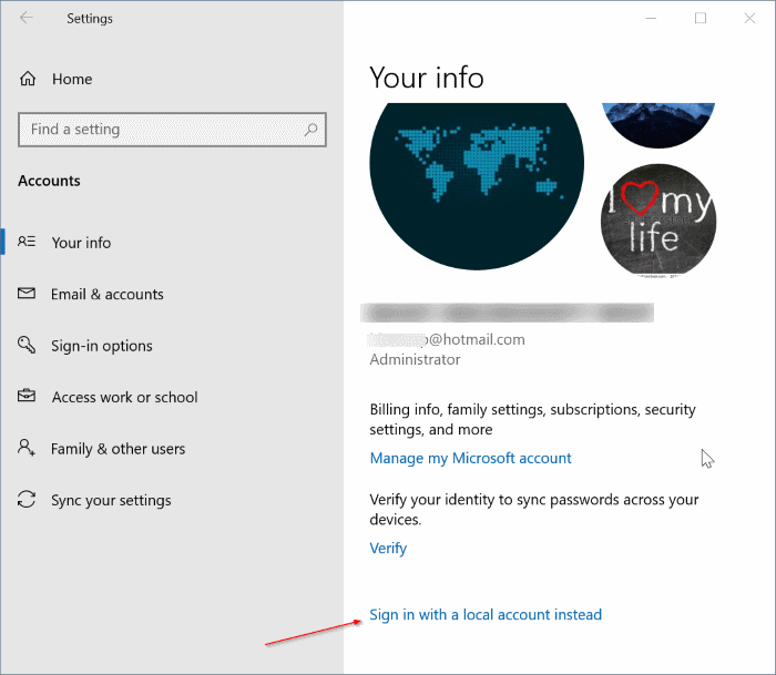 unlink Windows 10 license from Microsoft account