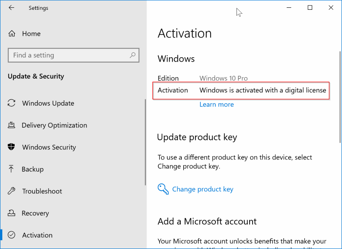 unlink Windows 10 license from Microsoft account pic7.1