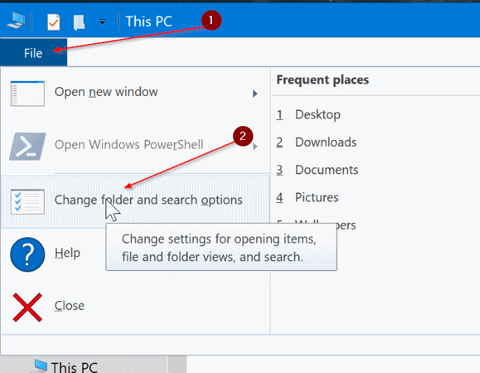 show or hide drive letters in Windows 10 File Explorer pic2