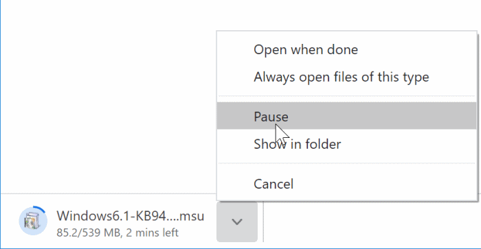 Pause or cancel downloads in Chrome pic1.docx