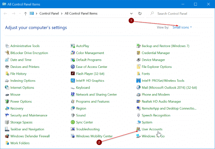 change or remove local account password in Windows 10 pic1