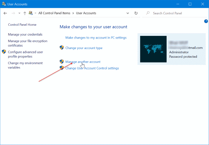 change or remove local account password in Windows 10 pic2