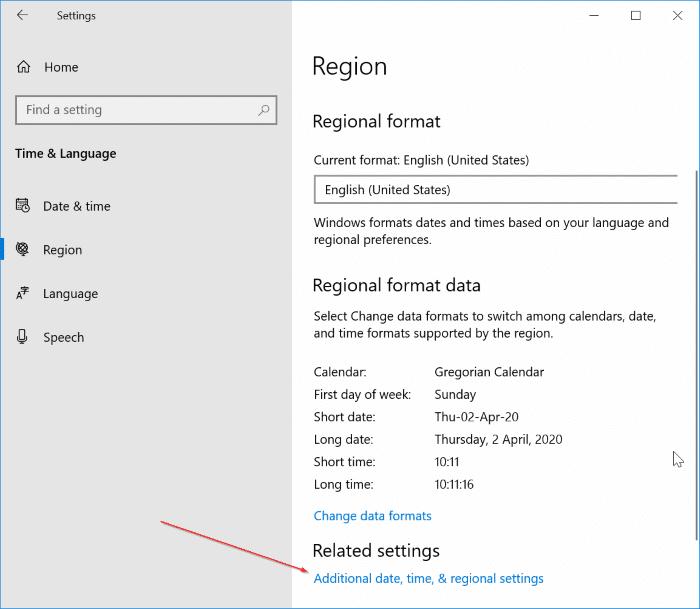 display day of week on the Windows 10 taskbar pic1