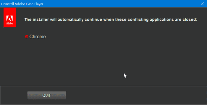 completely uninstall Adobe Flash Player from Windows 10 pic3