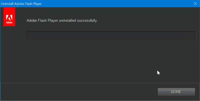 completely uninstall Adobe Flash Player from Windows 10 pic4