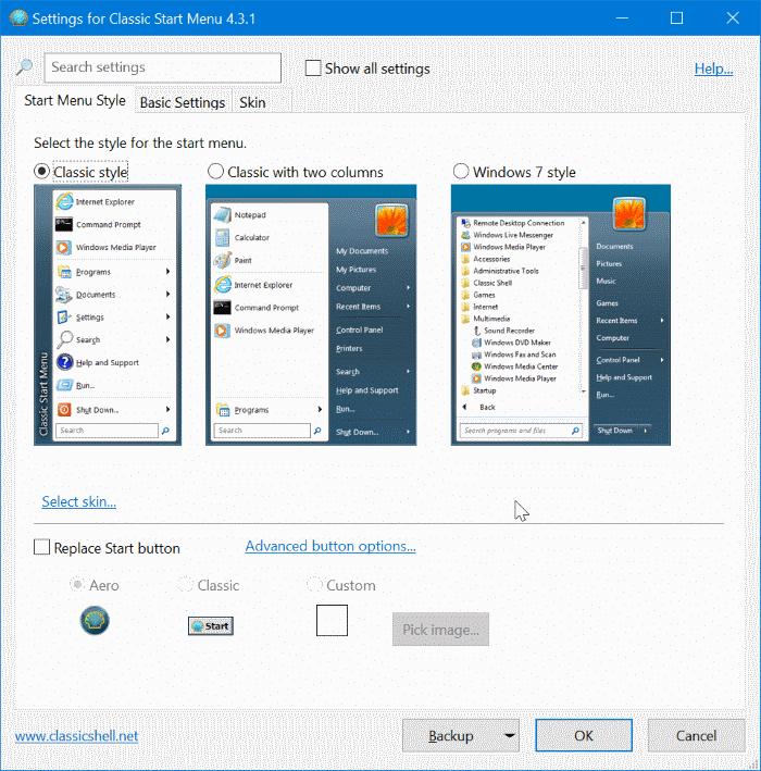 get classic start menu in Windows 10 pic4