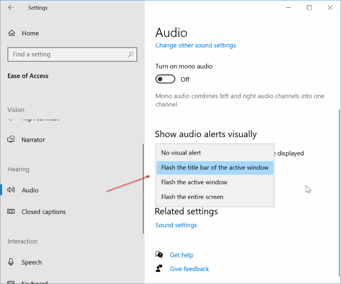 turn on or off sound & visual indicator for caps lock & num lock in Windows 10 pic3