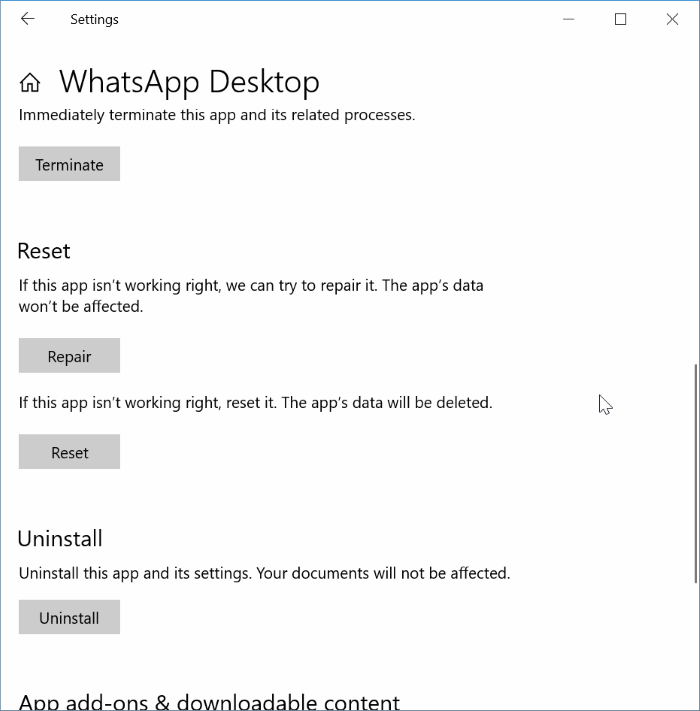 whatsapp desktop not opening or working pic4