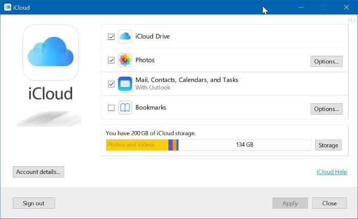 Uninstall icloud and icloud photos from Windows 10 pic01
