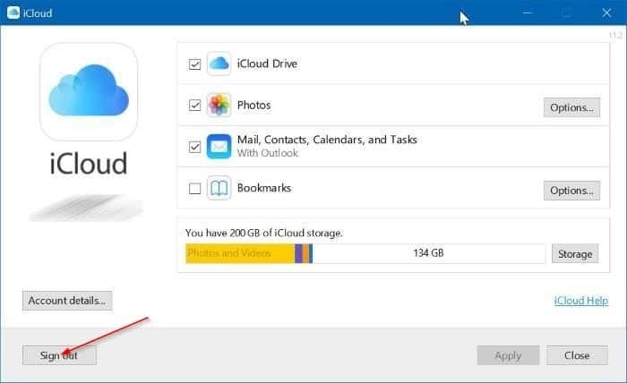 Uninstall icloud and icloud photos from Windows 10 pic2