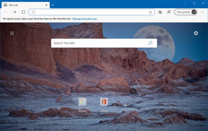 change Microsoft edge new tab background image pic02