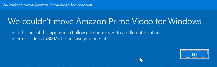 change amazon prime video download location in Windows 10 pic3