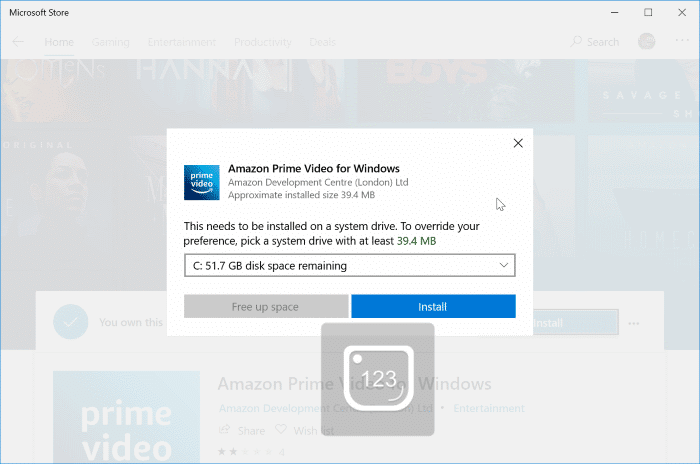 download amazon prime video movies to Windows 10 PC pic1