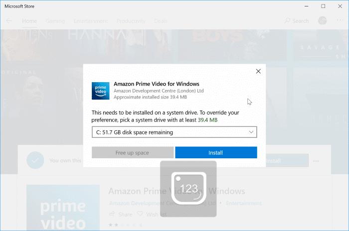 download amazon prime video movies to Windows 10 PC pic1