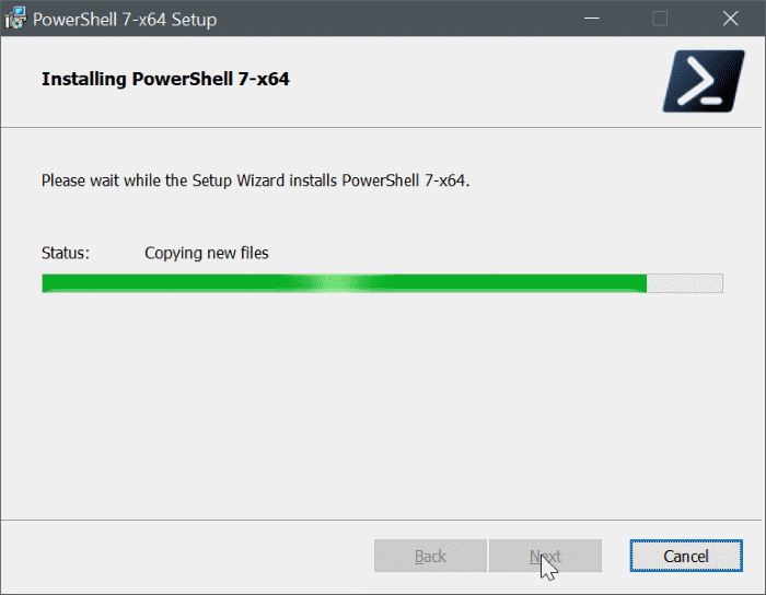 install powershell 7 on Windows 10 pic10