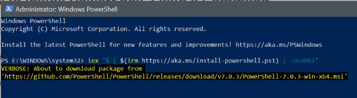 install powershell 7 on Windows 10 pic5