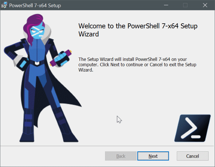 install powershell 7 on Windows 10 pic7