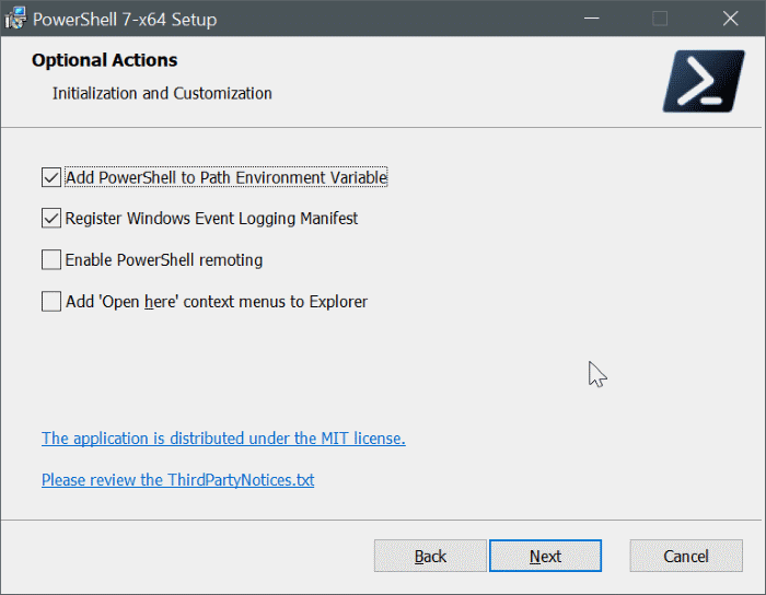 install powershell 7 on Windows 10 pic8