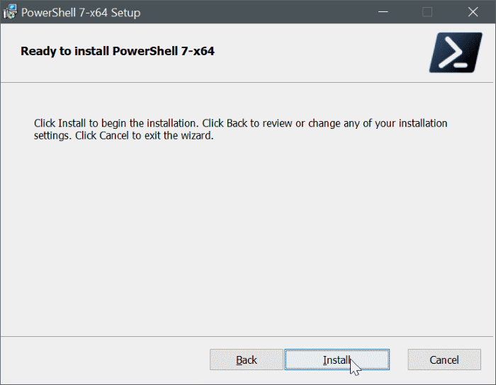 install powershell 7 on Windows 10 pic9
