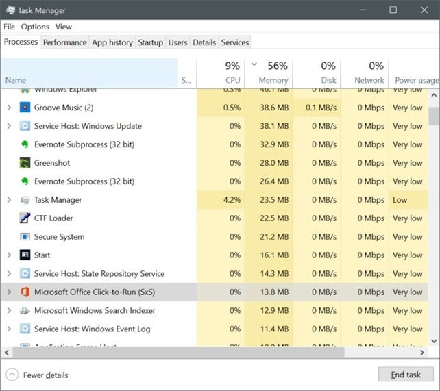 disable Microsoft Office click to Run service in Windows 10 pic3
