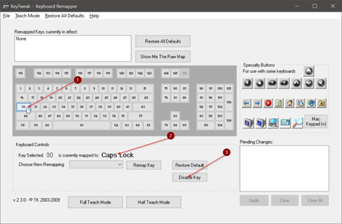 disable capslock key in Windows 10 pic10