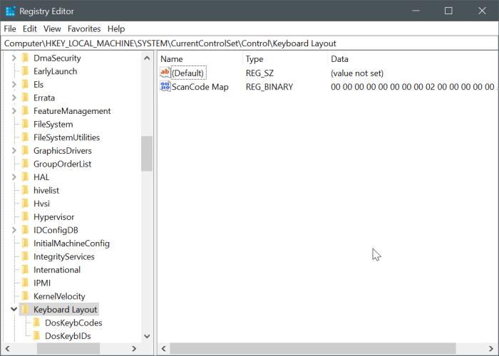 disable capslock key in Windows 10 pic1