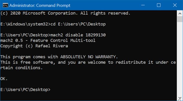 Disable Windows 10 settings header pic1