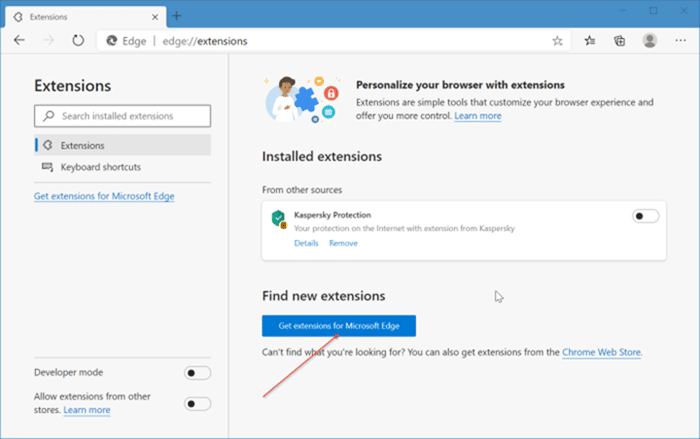 install and uninstall themes in Microsoft Edge in Windows 10 pic1