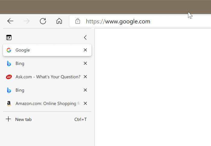 using vertical tabs in Microsoft Edge pic1