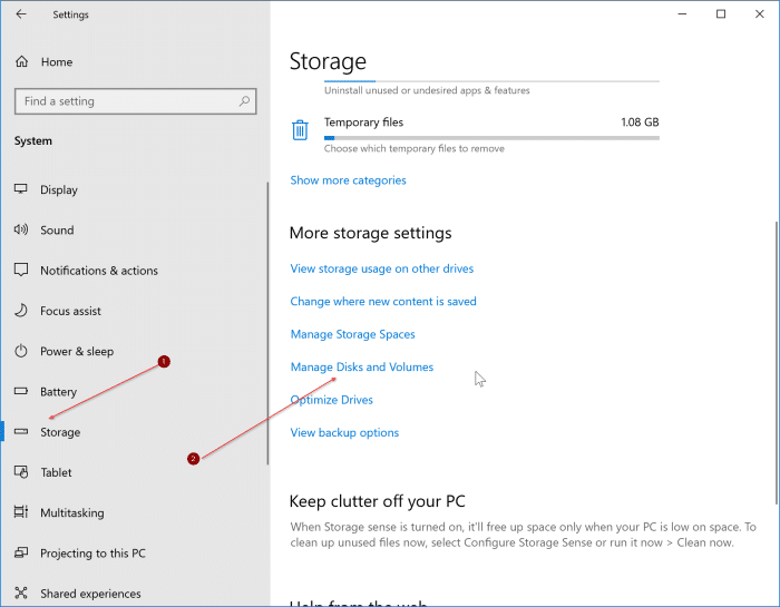 check SSD health and temparature in Windows 10 pic1
