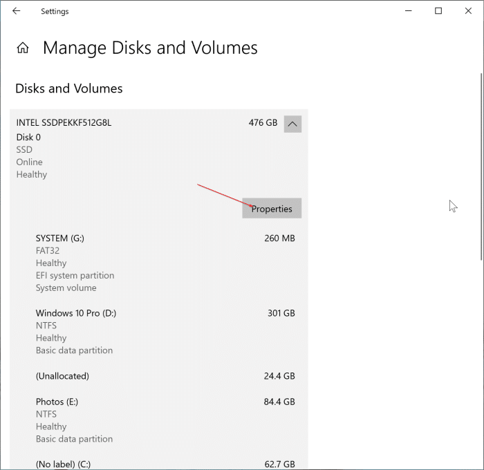 check SSD health and temparature in Windows 10 pic2
