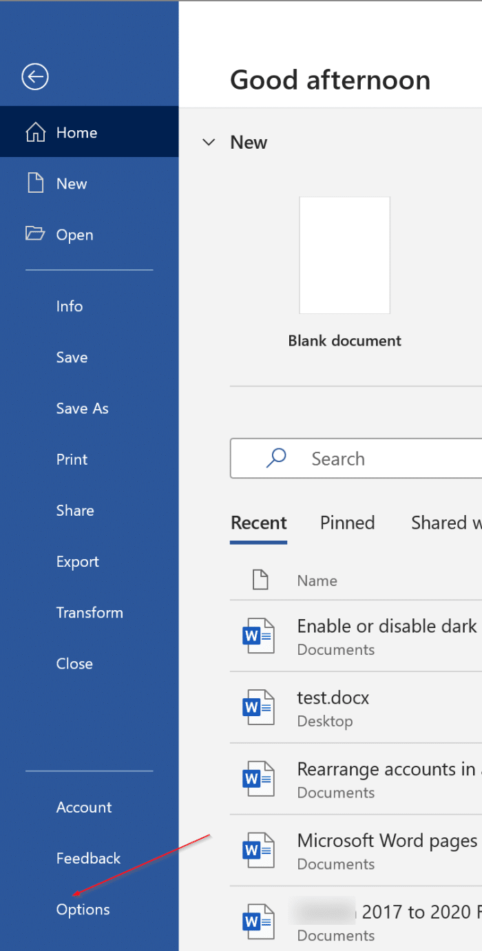 enable or disable dark mode in Office 365 Word, Excel and PowerPoint pic2