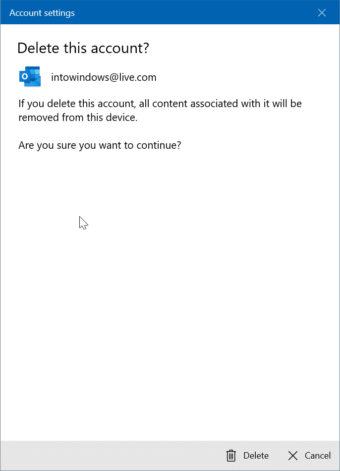 rearrange email accounts in Windows 10 Mail app pic3