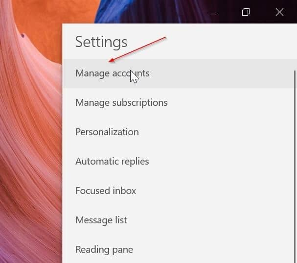 rearrange email accounts in Windows 10 Mail app pic6