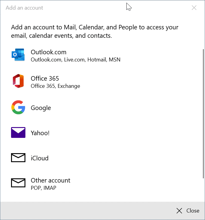 rearrange email accounts in Windows 10 Mail app pic8