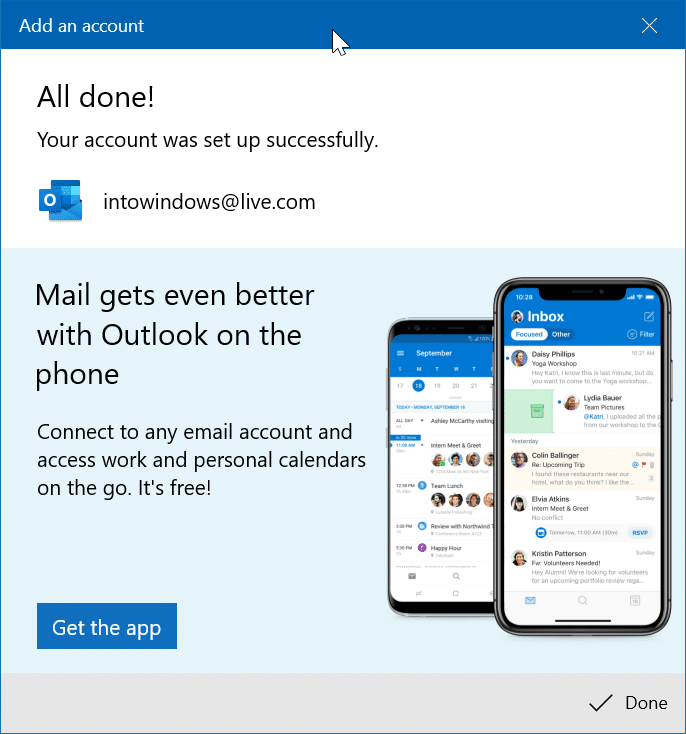 rearrange email accounts in Windows 10 Mail app pic9