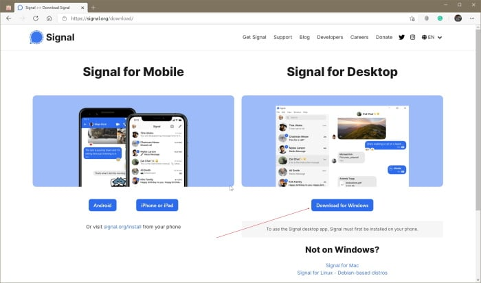 signal installation on Windows 10 pic02