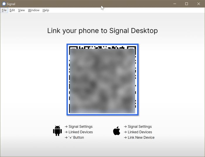 signal installation on Windows 10 pic2