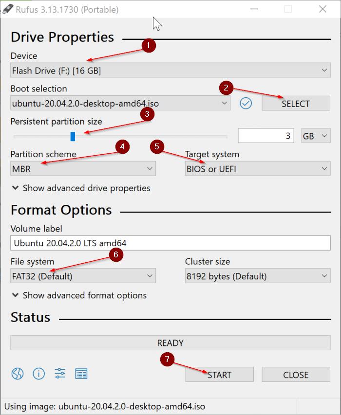 create Ubuntu Live USB on Windows 10 PC pic1.1