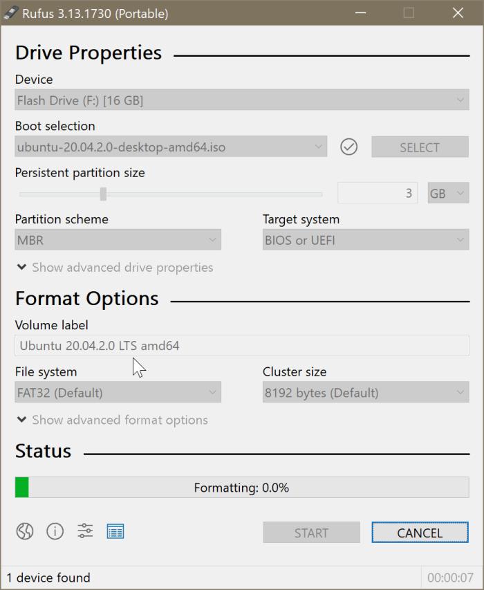 create Ubuntu Live USB on Windows 10 PC pic3