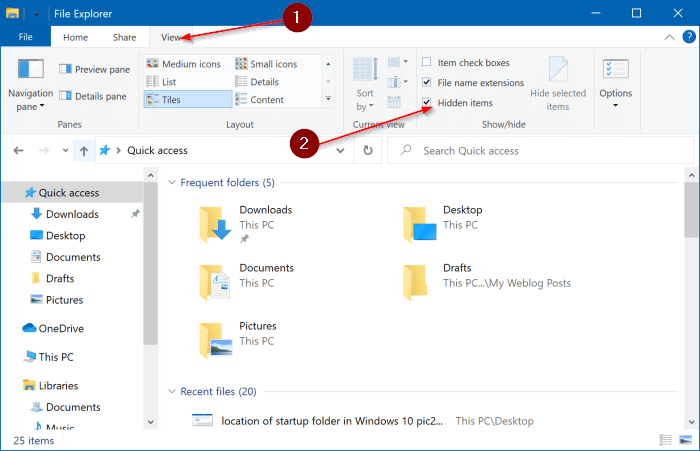 location of startup folder in Windows 10 pic3
